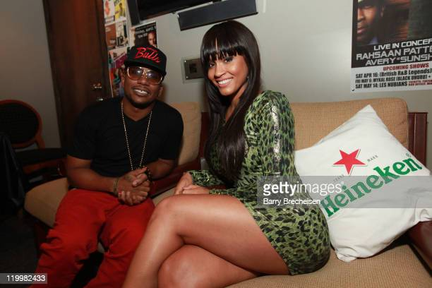 Cyhi Da Prynce and Rosa Acosta attend the GOOD Music event presented by Heineken Red Star Access hosted by Rosa Acosta featuring Cyhi Da Prynce and...