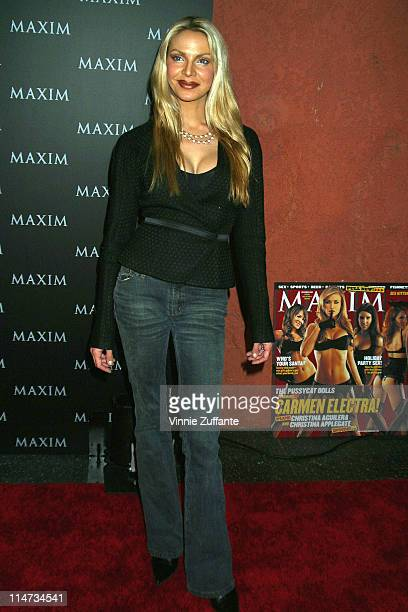 Cyia Batten attending Maxim Magazine's Pussycat Dolls Party at the Henry Fonda Theatre in Los Angeles CA 12/04/02