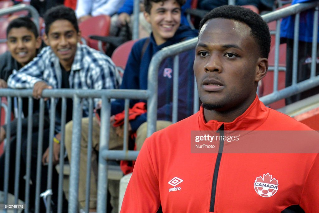 Cyle Larin (CAN) before the Canada-Jamaica Mens International Friendly match at BMO Field in Toronto, Canada, on 2 September 2017.