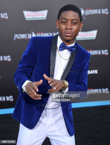 Cyler arrives at the premiere of Lionsgate's 'Power Rangers' at The Village Theatre on March 22 2017 in Westwood California