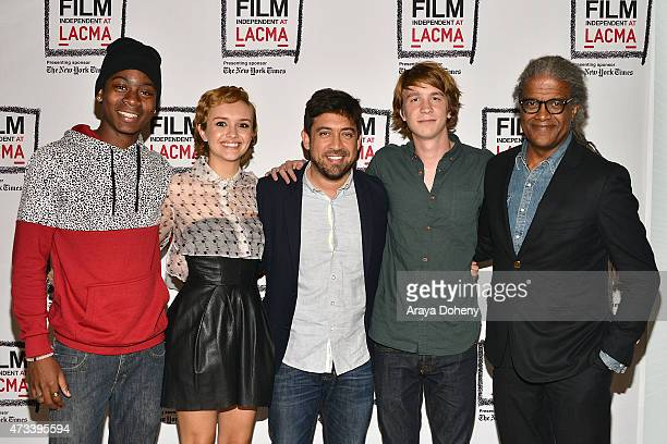 RJ Cyler Olivia Cooke Alfonso GomezRejon Thomas Mann and Elvis Mitchell attend the Film Independent at LACMA special screening of 'Me And Earl And...