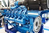 12 Cylinder Diesel Engine closeup