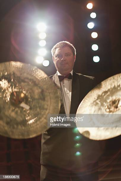 Cymbals player in orchestra