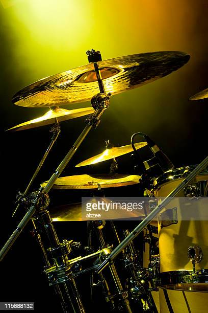 Cymbals with rock gig lighting