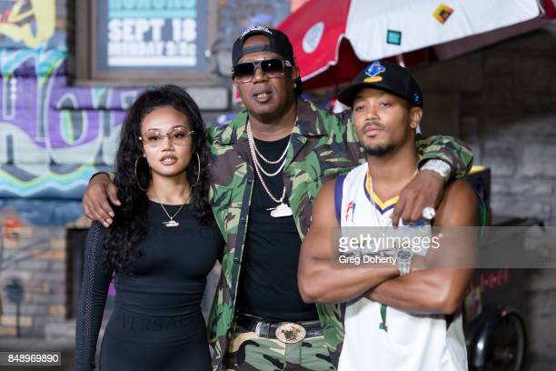 Cymphonique Miller Master P and Romeo Miller arrives for VH1's Hip Hop Honors The 90's Game Changers at Paramount Studios on September 17 2017 in...