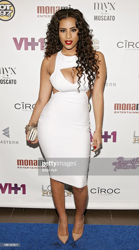 Cyn Santana appears at the VH1 'Love & Hip Hop' Season 4 Premiere at Stage 48 on October 28, 2013 in New York City.