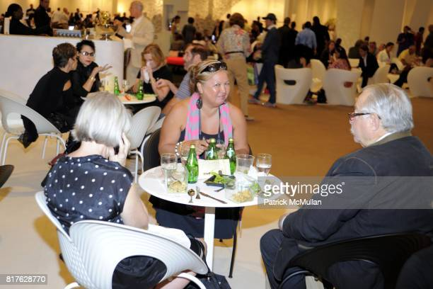 Cyn Zarco and Mickey Wolfson attend ART BASEL MIAMI BEACH 2010 at Miami Beach Convention Center on December 1 2010 in Miami Beach Florida