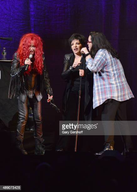 Cyndi Lauoer Liza Minnelli and Rosie O'Donnell perform at Barclays Center on May 9 2014 in the Brooklyn borough of New York City