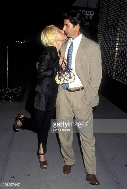 Cyndi Lauper and David Thornton during Cyndi Lauper Sighting on Madison Ave August 28 1995 at Madison Avenue in New York City New York United States