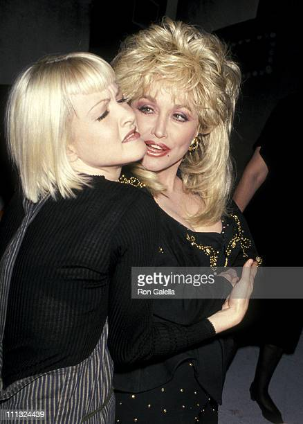 Cyndi Lauper and Dolly Parton during Grand Opening Party and Ribbon Cutting at Sony Music Studios at Sony Music Studios in New York City New York...