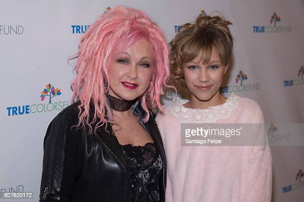 Cyndi Lauper and Grace Vanderwaal attends the 6th Annual Home For The Holidays Concert at Beacon Theatre on December 3 2016 in New York City