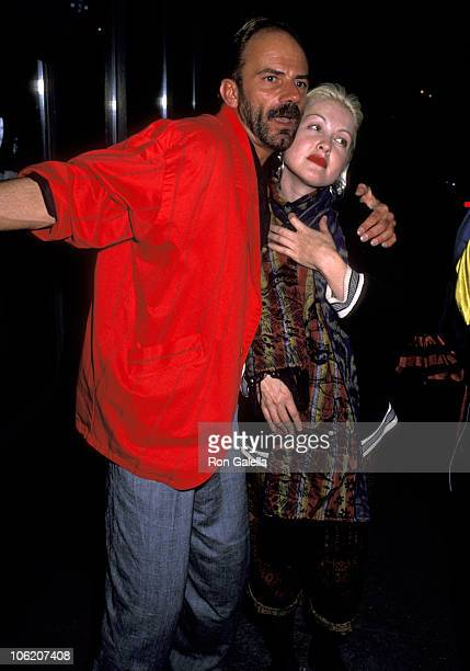 Cyndi Lauper and guest during Party for Elton John Concert at Madison Square Garden at El Morocco in New York City New York United States