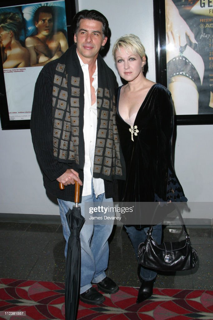 Cyndi Lauper and husband David Thornton during New York Premiere of 'XX/XY' at the Gen Art Eighth Annual Film Festival at Loews Astor Plaza in New York City, New York, United States.