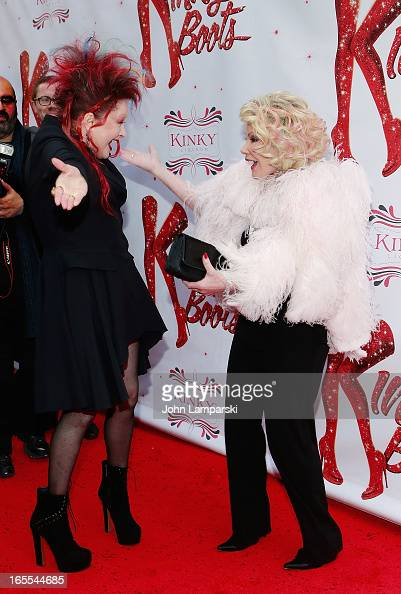 Cyndi lauper joan rivers stock photos and pictures for Cyndi lauper broadway kinky boots