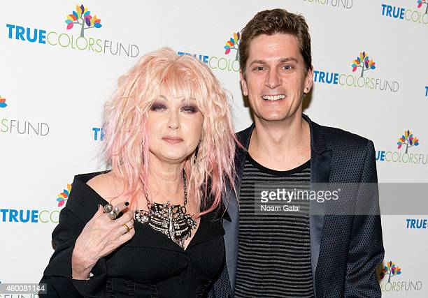 Cyndi Lauper and Rob Thomas attend the 4th Annual 'Home For The Holidays' Benefit Concert at Beacon Theatre on December 6 2014 in New York City