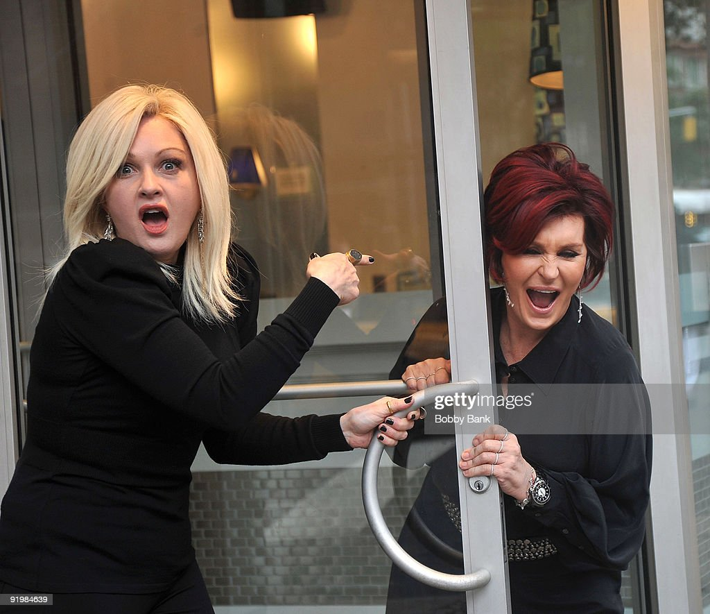 Cyndi Lauper and Sharon Osbourne joins the cast of 'Celebrity Apprentice 3' with their girls team for first challenge on the streets of Manhattan on October 18, 2009 in New York City.