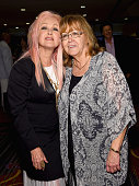 Cyndi Lauper and SHOF President/CEO Linda Moran attend Songwriters Hall Of Fame 46th Annual Induction And Awards at Marriott Marquis Hotel on June 18...