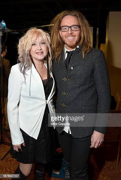 Cyndi Lauper and Tim Minchin attend the 2013 Tony Awards Meet The Nominees Press Reception on May 1 2013 in New York City