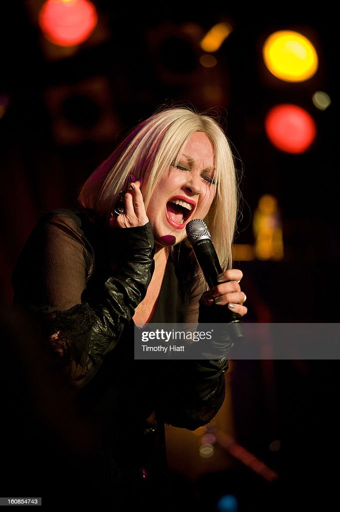 Cyndi Lauper appears and performs at Hearing Health Foundation's An Intimate Evening with Cyndi Lauper at B.B. King Blues Club & Grill on February 6, 2013 in New York City.