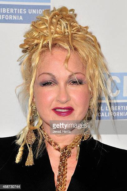 Cyndi Lauper arrives at the ACLU of Southern California's 2014 Bill Of Rights Dinner at the Beverly Wilshire Four Seasons Hotel on November 9 2014 in...