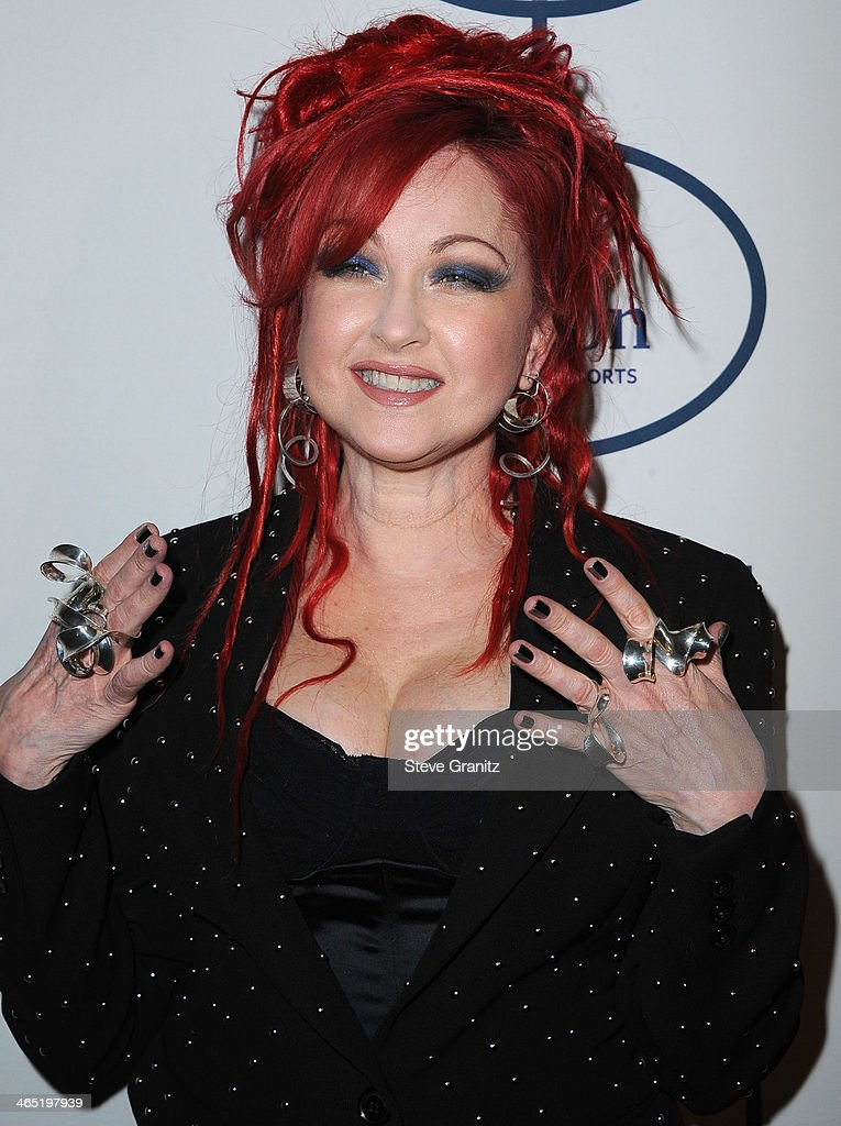 Cyndi Lauper arrives at the Clive Davis And The Recording Academy Annual Pre-GRAMMY Gala at The Beverly Hilton Hotel on January 25, 2014 in Beverly Hills, California.