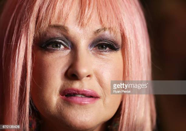Cyndi Lauper arrives for the opening night of Cyndi Lauper's Kinky Boots at Capitol Theatre on April 19 2017 in Sydney Australia