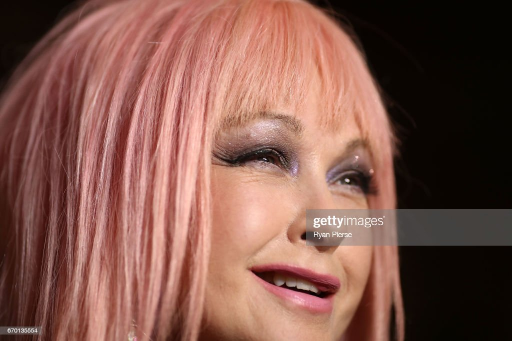 Cyndi Lauper arrives for the opening night of Cyndi Lauper's Kinky Boots at Capitol Theatre on April 19, 2017 in Sydney, Australia.