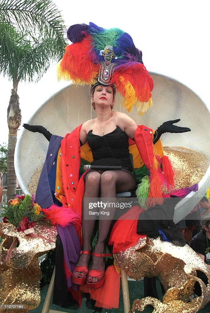 Cyndi Lauper at the Christopher Street West Gay Pride 2003 Parade in West Hollywood California Cyndi was also celebrating as it was her 50th birthday...