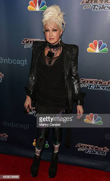 Cyndi Lauper attends 'America's Got Talent' season 9 finale red carpet event at Radio City Music Hall on September 17 2014 in New York City
