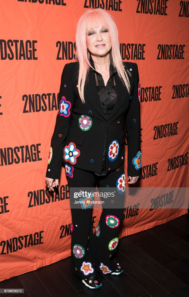 Cyndi Lauper attends Second Stage 38th Anniversary Gala at TAO Downtown on May 1, 2017 in New York City.