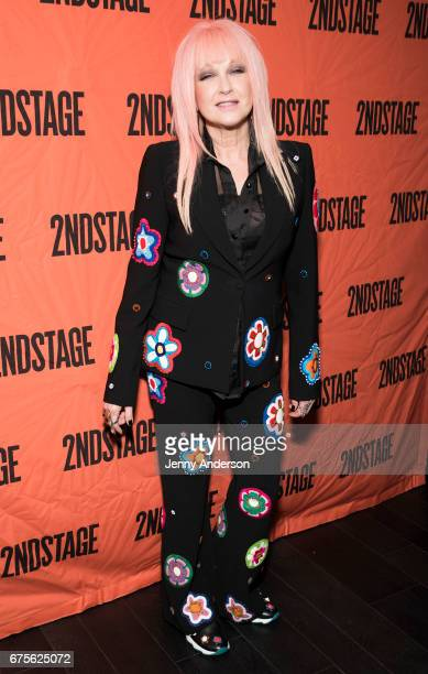 Cyndi Lauper attends Second Stage 38th Anniversary Gala at TAO Downtown on May 1 2017 in New York City
