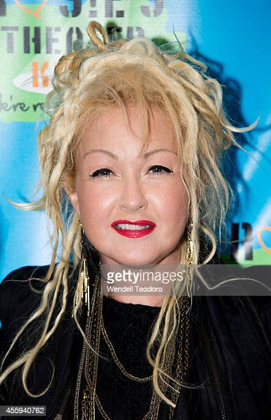 Cyndi Lauper attends the 11th Annual Rosie's Theater Kids Benefit Gala at the New York Marriott Marquis on September 22 2014 in New York City