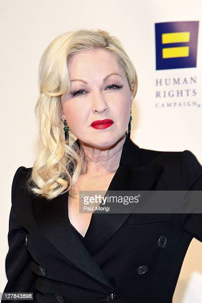 Cyndi Lauper attends the 15th Annual Human Rights Campaign National Dinner at the Washington Convention Center on October 1 2011 in Washington DC
