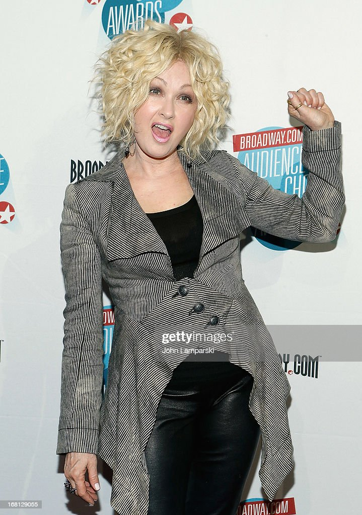 <a gi-track='captionPersonalityLinkClicked' href=/galleries/search?phrase=Cyndi+Lauper&family=editorial&specificpeople=171290 ng-click='$event.stopPropagation()'>Cyndi Lauper</a> attends The 2013 Broadway.com Audience Choice Awards at Jazz at Lincoln Center on May 5, 2013 in New York City.