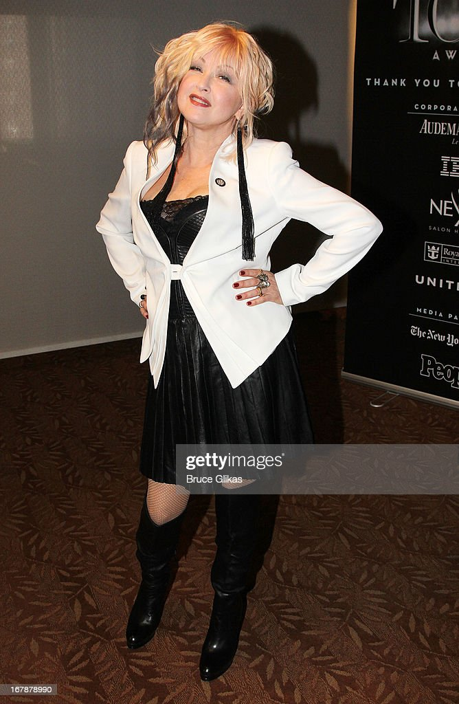 Cyndi Lauper attends the 2013 Tony Awards: The Meet The Nominees Press Junket at the Millenium Hilton on May 1, 2013 in New York City.