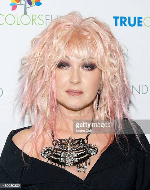 Cyndi Lauper attends the 4th Annual 'Home For The Holidays' Benefit Concert at Beacon Theatre on December 6 2014 in New York City