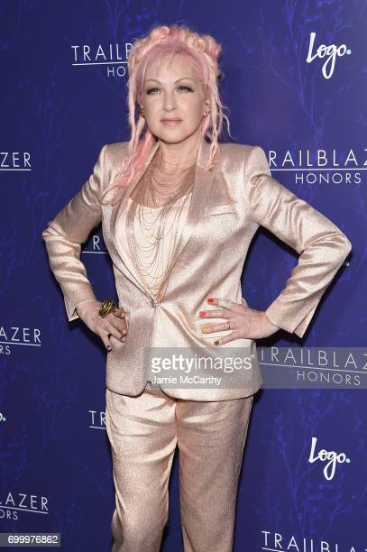Cyndi Lauper attends the Logo's 2017 Trailblazer Honors event at Cathedral of St John the Divine on June 22 2017 in New York City