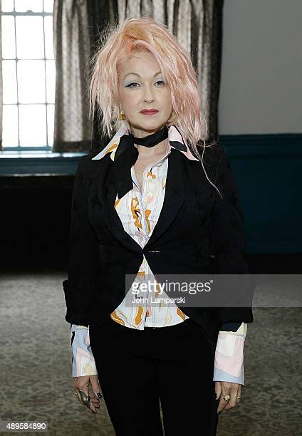 Cyndi Lauper attends True Colors Bronx Opening presentation to the media on September 22 2015 in New York City