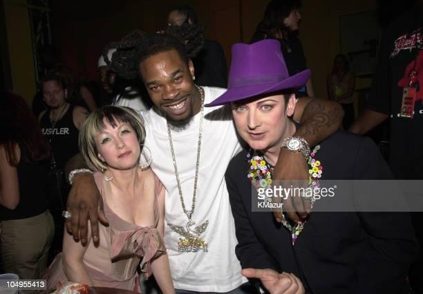 Cyndi Lauper Busta Rhymes Boy George backstage