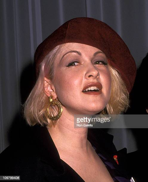 Cyndi Lauper during 'Lifebeat The Music Industry Fights AIDS' at The Supper Club in New York City New York United States