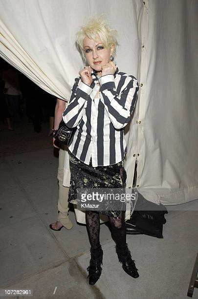 Cyndi Lauper during Mercedes Benz Fashion Week 2003 Opening of the First Stella McCartney Store Worldwide at Stella McCartney Store in New York New...