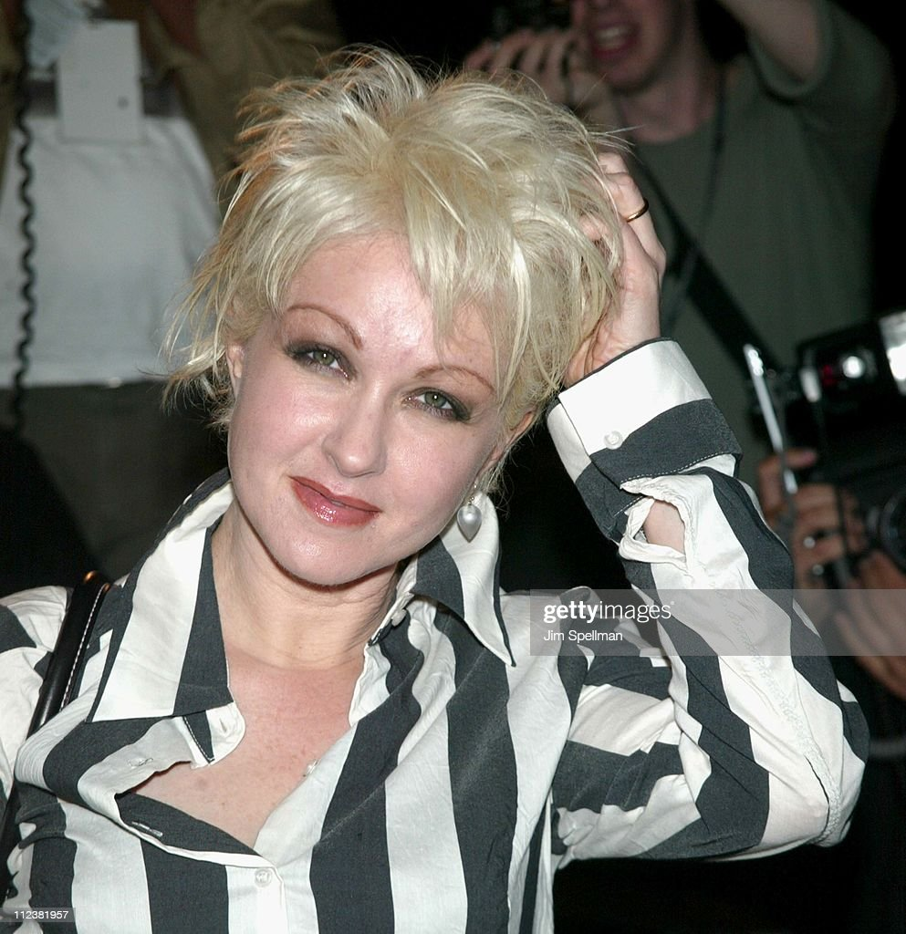 Cyndi Lauper during Mercedes Benz Fashion Week 2003 - Opening of the First Stella McCartney Store Worldwide at Stella McCartney Store in New York, New York, United States.