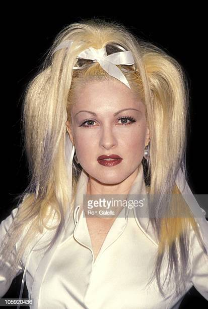 Cyndi Lauper during 'OUT' Magazine Benefit for Broadway Cares June 24 1994 at Industria Superstudio in New York City New York United States