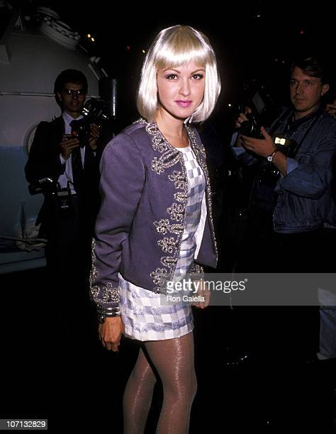 Cyndi Lauper during Screening of the Concert Video 'The Wall' to Celebrate the Day of German Reunification at Aboard USS Intrepid in New York City...
