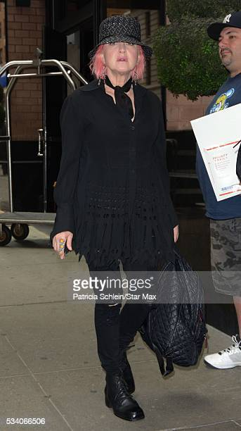 Cyndi Lauper is seen on May 24 2016 in New York City