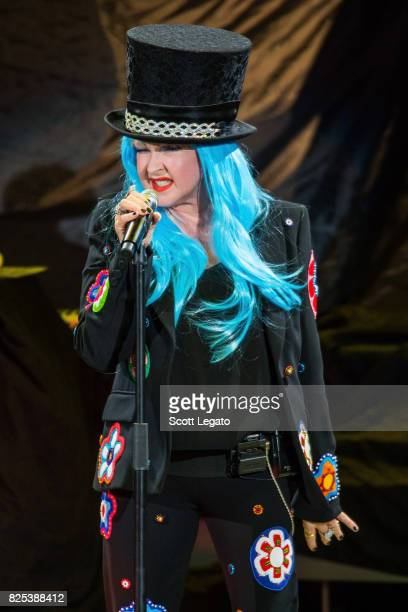 Cyndi Lauper performs at DTE Energy Music Theater on August 1 2017 in Clarkston Michigan