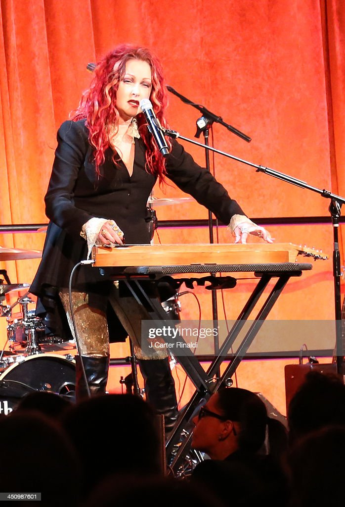 <a gi-track='captionPersonalityLinkClicked' href=/galleries/search?phrase=Cyndi+Lauper&family=editorial&specificpeople=171290 ng-click='$event.stopPropagation()'>Cyndi Lauper</a> performs at the 2013 Silver Hospital gala at Cipriani 42nd Street on November 20, 2013 in New York City.