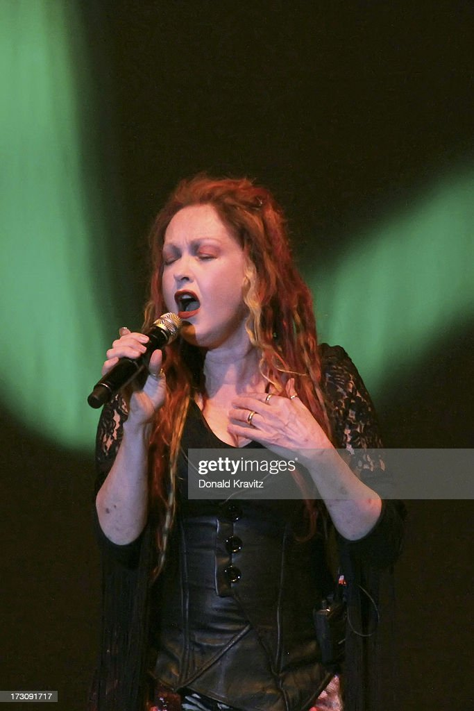 <a gi-track='captionPersonalityLinkClicked' href=/galleries/search?phrase=Cyndi+Lauper&family=editorial&specificpeople=171290 ng-click='$event.stopPropagation()'>Cyndi Lauper</a> performs at the Mark G. Etess Arena - Trump Taj Mahal on July 6, 2013 in Atlantic City, New Jersey.