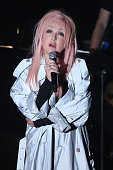Cyndi Lauper performs during the Songwriters Hall Of Fame 46th Annual Induction And Awards at Marriott Marquis Hotel on June 18 2015 in New York City