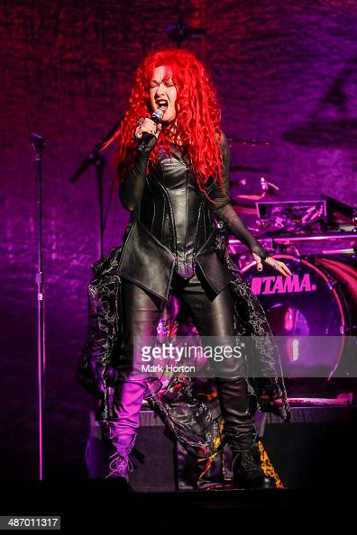Cyndi Lauper performs live at the Canadian Tire Centre on April 26 2014 in Ottawa Ontario